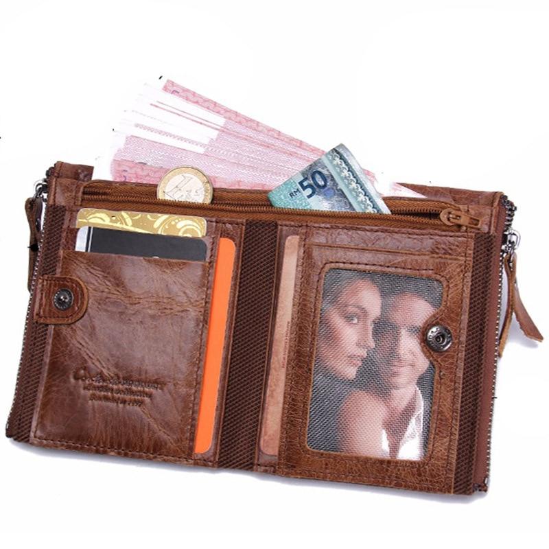 homens de couro curto carteira Number 1 : Passcard Pocket Wallet