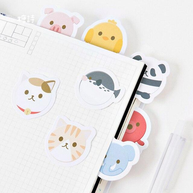 45 pcs lot round shape cute animal mini paper sticker package diy diary decoration sticker