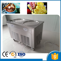 Free Shipping Double pan fried ice cream machine; frying ice cream machine ;ice roll machine