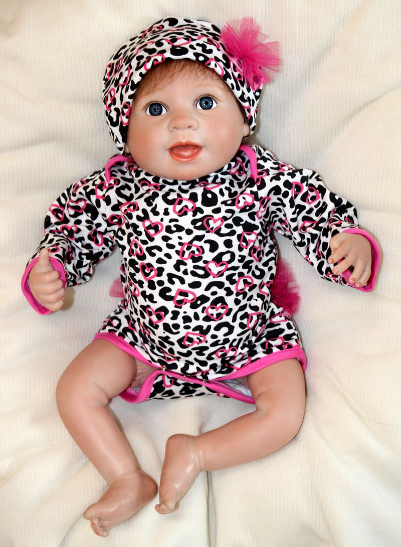 45cm Soft Silicone Reborn Baby Girls Dolls Toy Lifelike Newborn Babies Lovely Fashion Birthday Gift Girls Present Play House Toy soft silicone reborn baby dolls toys for girls lifelike birthday present gifts cute newborn boy babies bedtime play house toy