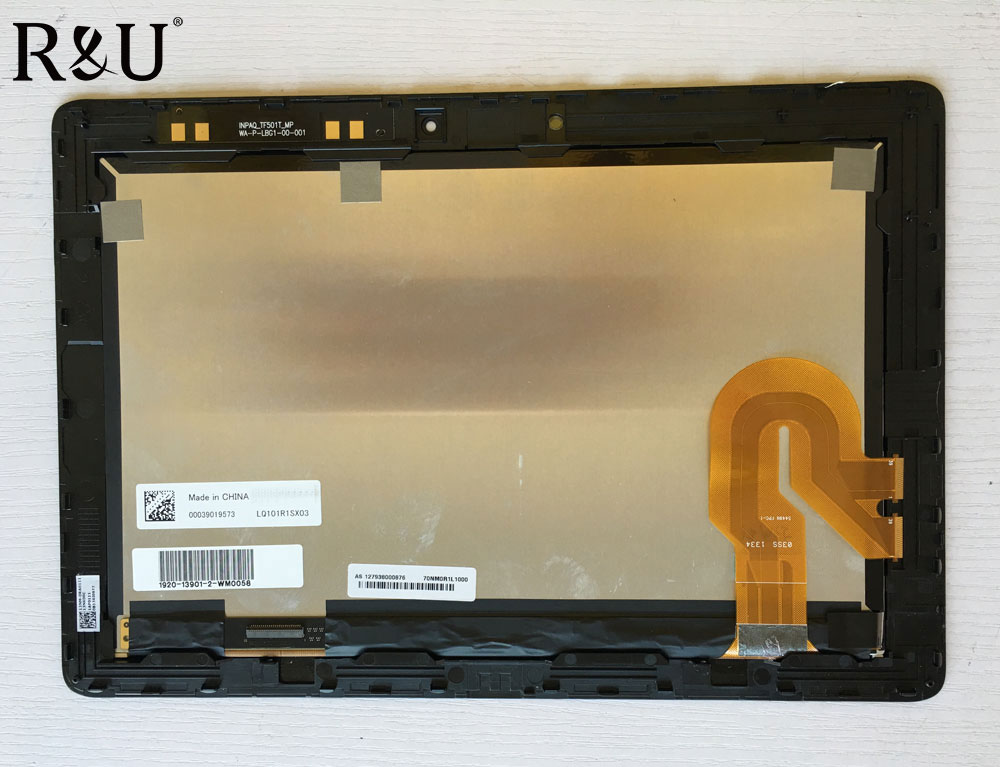 R&U test good LQ101R1SX03 lcd screen display touch screen digitizer assembly with frame For Asus Transformer Pad TF701T TF701 new touch screen digitizer lcd display with frame for asus eee pad transformer tf101 tracking number good quality