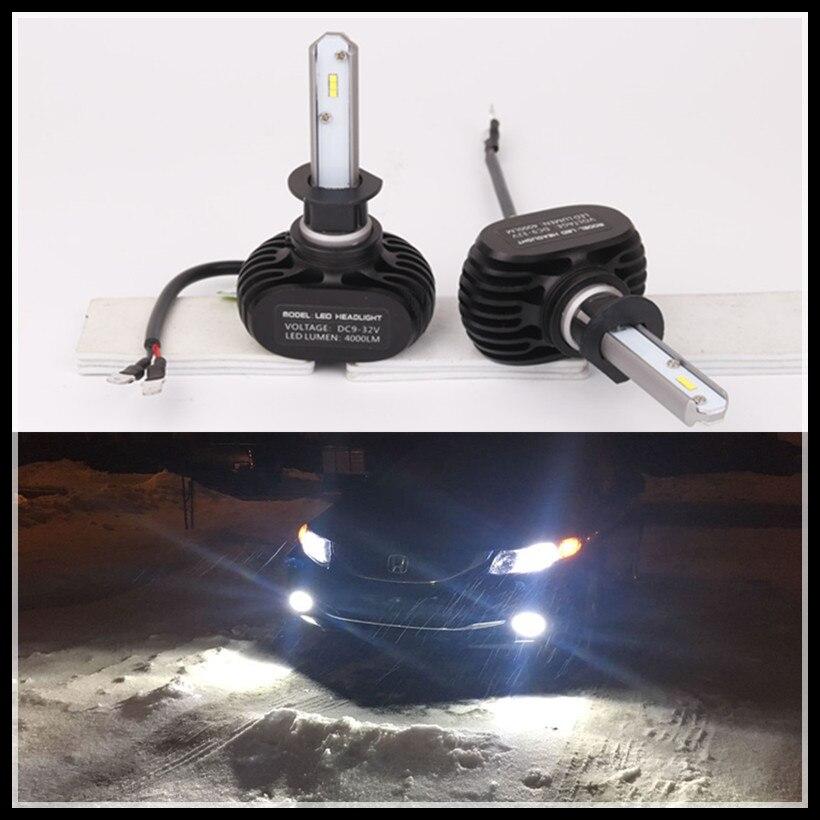 Fsylx csp водить автомобиль Фары для автомобиля H1 H3 H7 H8 H9 H10 H11 9005 9006 H16 <font><b>5202</b></font> PSX24 P13W светодиодные фары DRL Туман лампы H1 H3 светодиодные фары