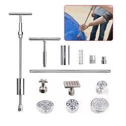 Ferramentas de Remoção de Dente PDR Paintless Dent Repair Tools Dent Extrator Martelo Deslizante Kit Ferramentas PDR Abas De Metal Copo De Sucção Otários