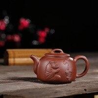Мастера Yixing рекомендуются к фиолетовой глине дзен чай скульптура персонажа чайный набор кунг фу на продажу