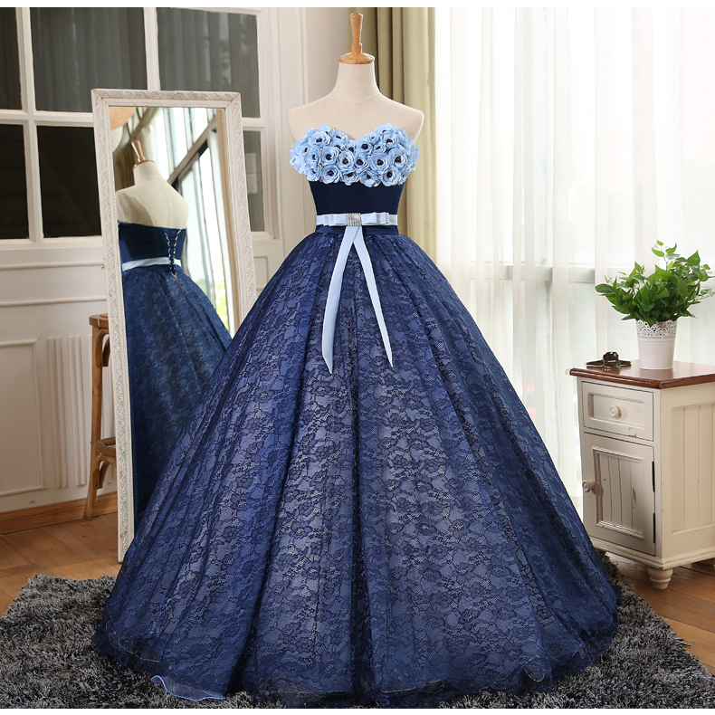 100real Navy Blue Lace Full Flowers Rose Medieval Dress Renaissance Gown Princess Victoria Marie Antoinette Belle Ball On Aliexpress