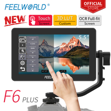 FEELWORLD F6 PLUS 5.5 Inch on Camera DSLR Field Monitor 3D LUT Touch Screen IPS FHD 1920x1080 Video Focus Assist Support 4K HDMI feelworld f5 5inch dslr on camera field monitor small full hd 1920x1080 ips video peaking focus assist with 4k hdmi and tilt arm