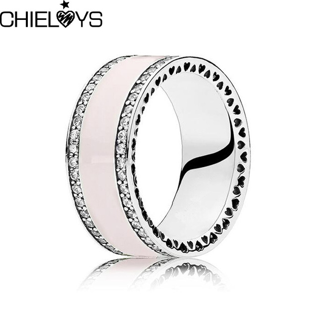 eb4ca7766 CHIELOYS Fashion Elegant Original Silver Plated Dazzling Everlasting 6  Color Brand Ring Clear CZ Party Jewelry R078