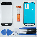 New Front Panel Digitizer Touch Screen Glass for Samsung Galaxy S4 mini i9190 Front Glass Outer Lens with Repair Tools & UV glue