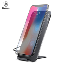Baseus 10W QI Wireless Charger For iPhone Xs X 8 Samsung Note9 S9 S8 Qi Charging Pad Stand Docking Station