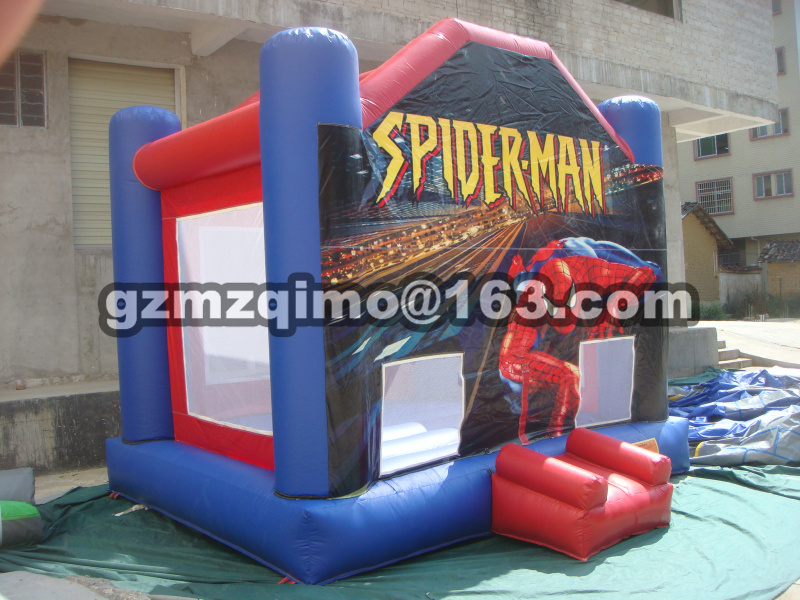 PVC inflatable trampolines/spiderman inflatable bouncer for kids 4.5x4x4m toy free shipping garden park outside pvc toys inflatable 13ft bouncer trampolines high quality interative games for sale