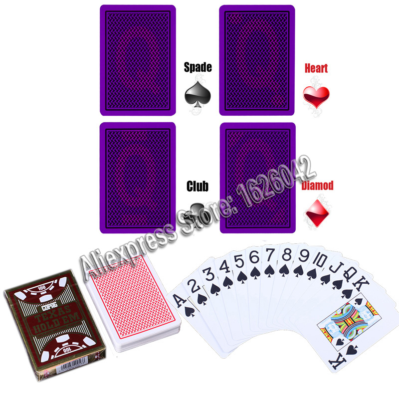 XF Marked Cards for Perspective Glasses Poker Cheat Invisible Playing Cards Belgium Copag Plastic Cards Magic Poker Magic Props
