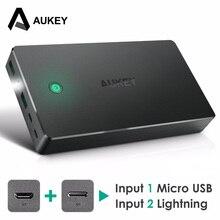 Aukey 20000 мАч Запасные Аккумуляторы для телефонов внешний Батарея Dual USB QC 2.0 Мощность банк Портативный Зарядное устройство для iPhone 7 6 s Xiaomi MI5 redmi3 Samsung