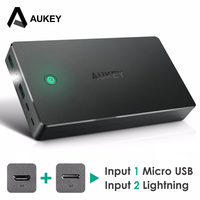 Aukey 20000mah Power Bank External Battery Dual USB QC 2 0 Powerbank Portable Charger For IPhone