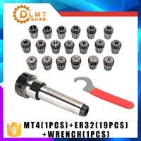 ER32 Spring Clamps 19PCS MT4 ER32 1PCS  Collet Chuck Morse Holder Cone For CNC Milling Lathe tool