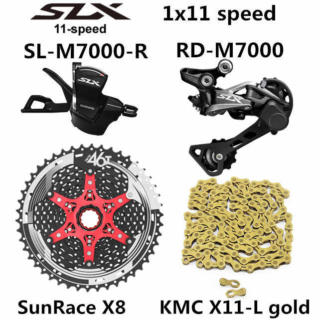 SHIMANO DEORE SLX M7000 Groupset MTB Mountain จักรยาน 1x11-Speed 46T 50T SL + RD + SUNSHINE + X11.93 m7000 SHIFT LEVER ด้านหลัง Derailleur