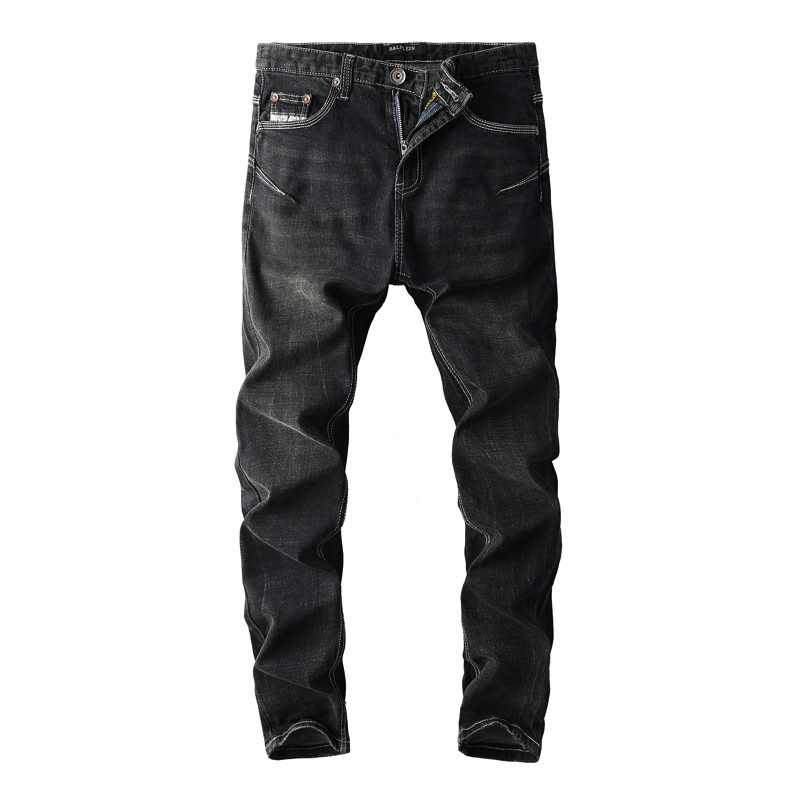 2018 New Fashion Streetwear Men's Jeans Slim Fit Elastic Black Jeans Homme Classical Stretch Denim Punk Pants Hip Hop Jeans Men