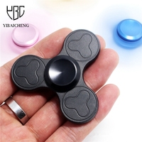 Tri Spinner Anti Stress Fidget Spinner Aluminum Alloy Hand Spinner EDC Finger Metal 3 Leaves Funny