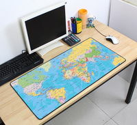 Объемный рисунок коврик для мыши игровой коврик для мыши карта мира 700x400x2 мм DIY XL большой коврик для мыши геймер с краем Блокировка офисные н...