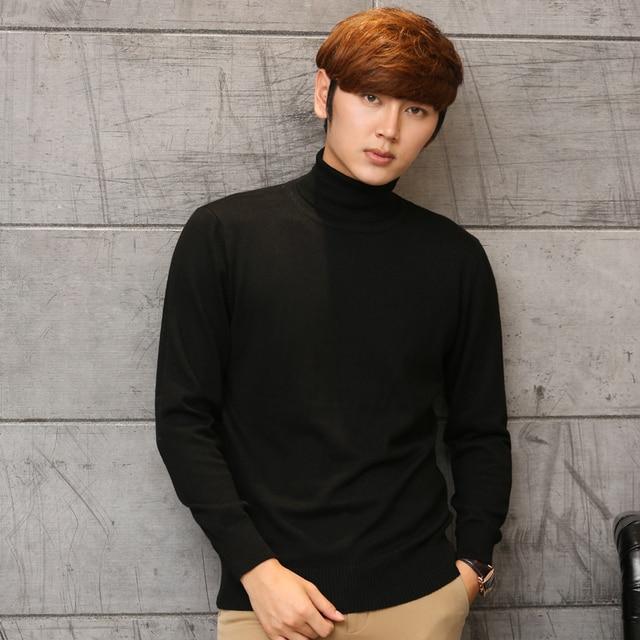 QingTeng Men Brand Knitted Merino Wool Sweater Winter Cashmere Boy Turtleneck Pullovers Cashemere Male Basic Shirt Jumper Jersey