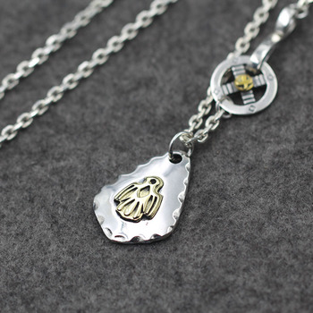 58ccc057293a Goro es Takahashi S925 de plata esterlina grabado latón pájaro etiqueta tailandesa  Retro Collar de plata águila colgante de los hombres y las mujeres