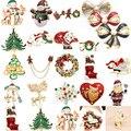 Свадьба Рождество Прекрасный Подарок Ювелирные Изделия Rhinestone Сплава Эмали Брошь Pin