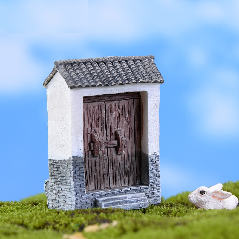 Mini Small House Cottages DIY Toys Crafts Figure Moss Terrarium Fairy Garden Ornament Landscape Decor Home Decor in Figurines Miniatures from Home Garden
