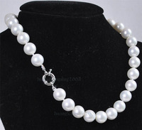 10mm White South Sea Shell Pearl Necklace AAA Grade, jewerly 25 inch H05