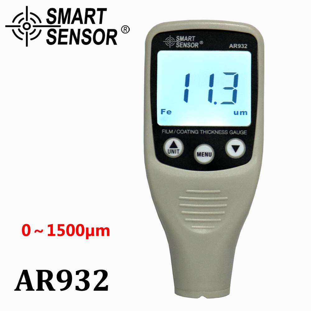 Digital Paint Coating Thickness Gauge W/  Probe, car detector Automotive Coating Refinishing car Paint tester Meter (0~1500um) new digital paint coating thickness