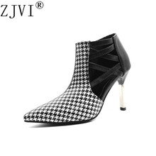 Купить с кэшбэком 2019 new arrived woman cut outs ankle boots for women summer thin heels boots sandal ladies pointed toe shoes sandals sandalias