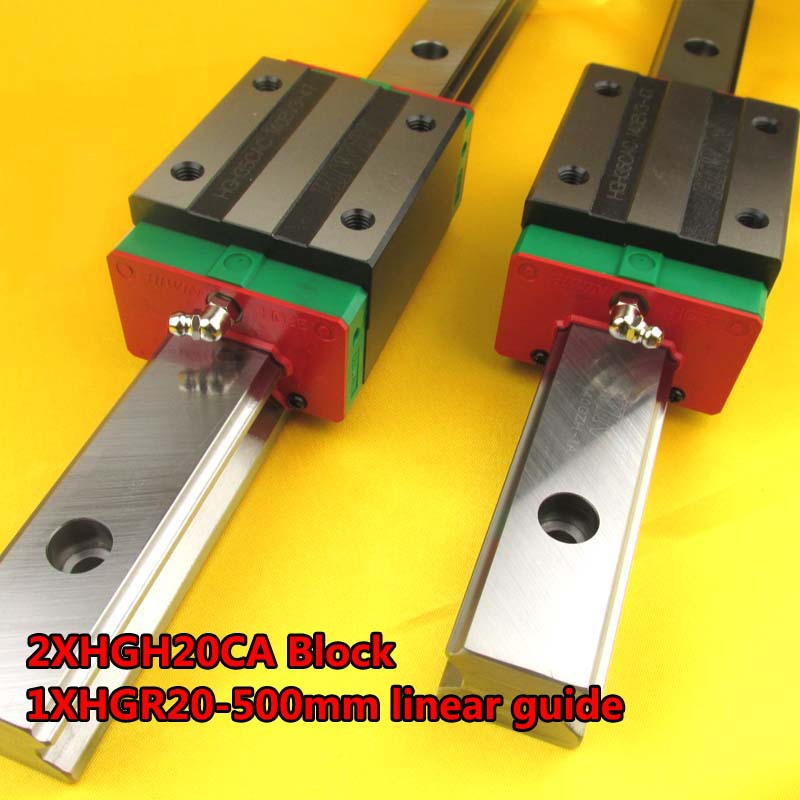 100% NEW HIWIN Linear Guide HGR20 L500mm rail +2pcs HGH20CA narrow carriages for cnc router cnc parts 100% new hiwin linear guide hgr20 l500mm rail 2pcs hgh20ca narrow carriages for cnc router cnc parts