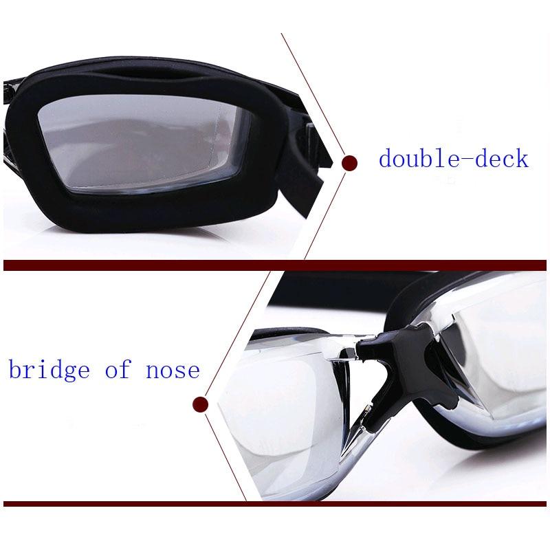 Mens Myopia Prescription Silicone Swim Glasses Anti-Fog And Waterproof Adult Professional Swim Eyewear 4
