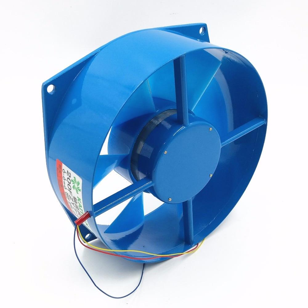 10PCS/LOT 200FZY7-D axial fan blower cooling fan aluminum case 380V 65W 0.18A 220v ac 65w 0 3a 200 210 71mm low noise cooling radiator axial centrifugal air fan blower 200fzy2 d axial flow cooling fan