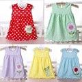 3 Pcs Infantil Do Bebê Meninas Vest Vestidos Roupa Das Crianças Para O Verão vestido de Princesa Flor Tutu Vestidos 3-18month do Algodão Roupa Bonito