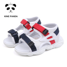 цены KINE PANDA Nice Toddler Boy Baby Girl Little Kids Gladiator Sandals Summer Beach Soft Anti-slide Fast Drying Shoes 1 2 3 4 5Y