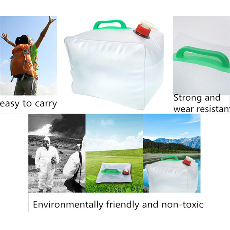 Portable water storage container Collapsible Water Carrier Bag Emergency Water Bag for Camping survival #2y15 (6)