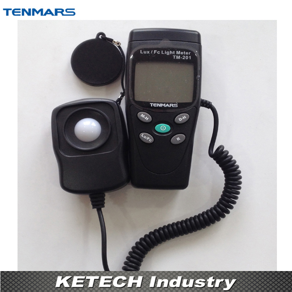 TENMARS 3 1/2 Digits LCD Digital Light Meter TM-201 2 1 lcd portable 3 mode digital illuminance light meter 100000lux 1lux 1 x 6f22
