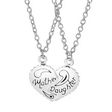 190ffd163a28 Juego de 2 piezas de collar de corazón de hija de madre cartas collares y  colgantes cadena gargantilla para mujeres chicas