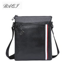 BAQI Brand Men Handbags Genuine Leather Cow Leather Men Shoulder Bags High Quality Men Messenger Bag 2019 Fashion Business Bag new collection 2017 fashion men bags men casual leather messenger bag high quality man brand business bag men s handbag