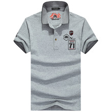NIANJEEP High Quality Brand Men Polo shirt solid summer short sleeve turndown collar men polos