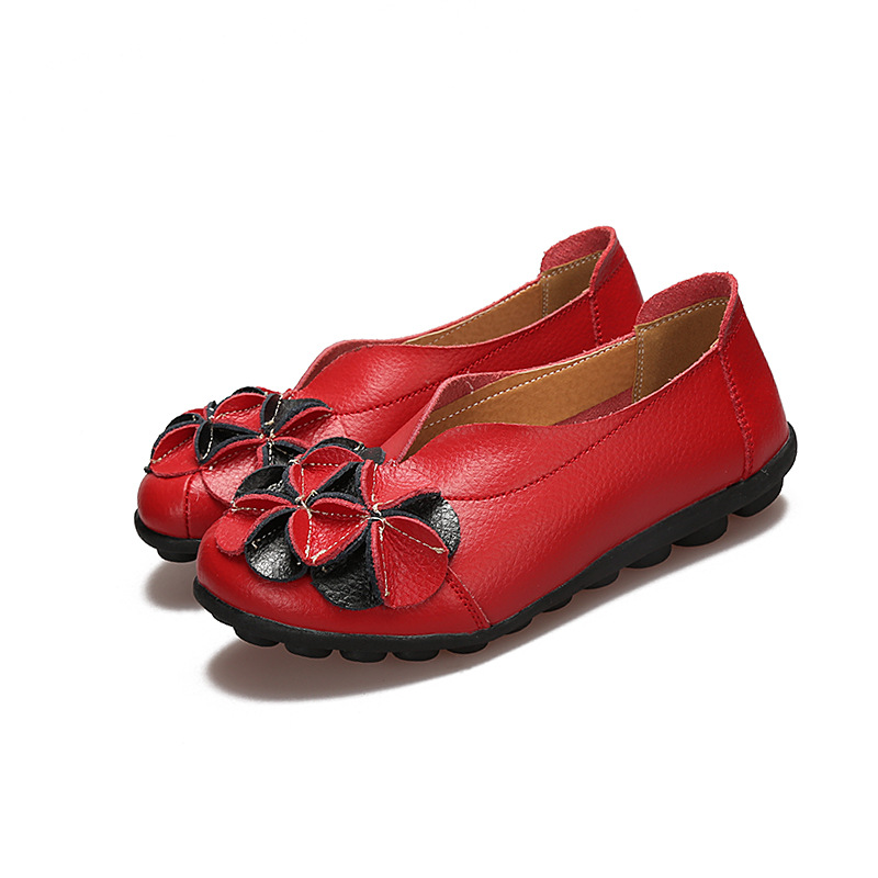 Shoes Woman Flats Slip On Women Loafers Soft Moccasins With Genuine Leather Shoes Women Plus Size Flat Shoes Female Causal Shoes 1