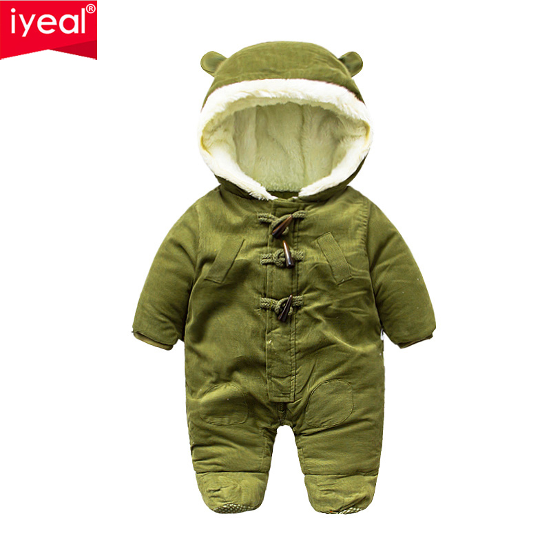 IYEAL 2017 Winter Baby Rompers Clothes Infant Clothing Warm Corduroy Newborn Baby Boy Girl Jumpsuit Overalls Next Baby Snowsuit iyeal 2017 brand baby clothes newborn bodysuit pant bib socks cotton cartoon boy girl clothing set next infant baby costume