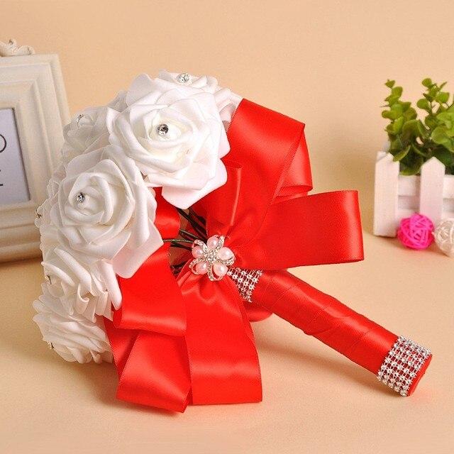 8 Colors Available Bride Bridesmaid Artificial Hands Holding Flowers Wedding Bouquets For Bridal Bouquets Buque De Noiva WP003