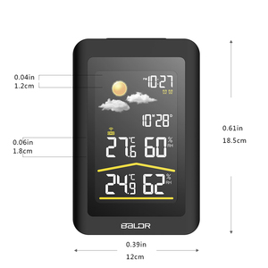 Image 2 - Baldr Wireless Weather Station Thermometer Digital Hygrometer Temperature Sensor Alarm Clock Snooze Forecast  US PLUG