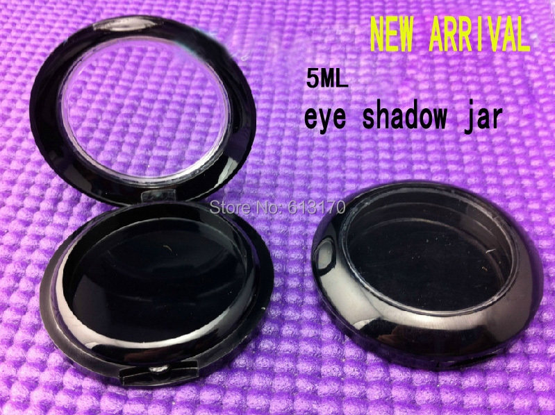 50pcs 5ml Leeres Lidschattenglas Schwarzer Boden transparenter Deckel - Hautpflege-Werkzeug