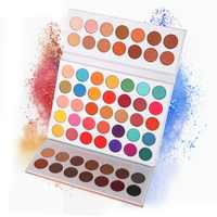 Beauty Glazed 63Colors Eye Shadow Powder Makeup Palette Soft Smoky Nude Eyeshadow Pigments Easy to Wear Shimmer Matte Eyeshadow