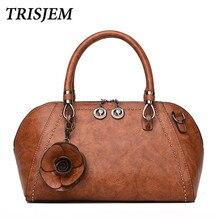 Новая мода Для женщин s Роза Сумочка заклепки Роскошные Сумки Для женщин сумки дизайнер известный бренд сумка Sac основной коричневый красный