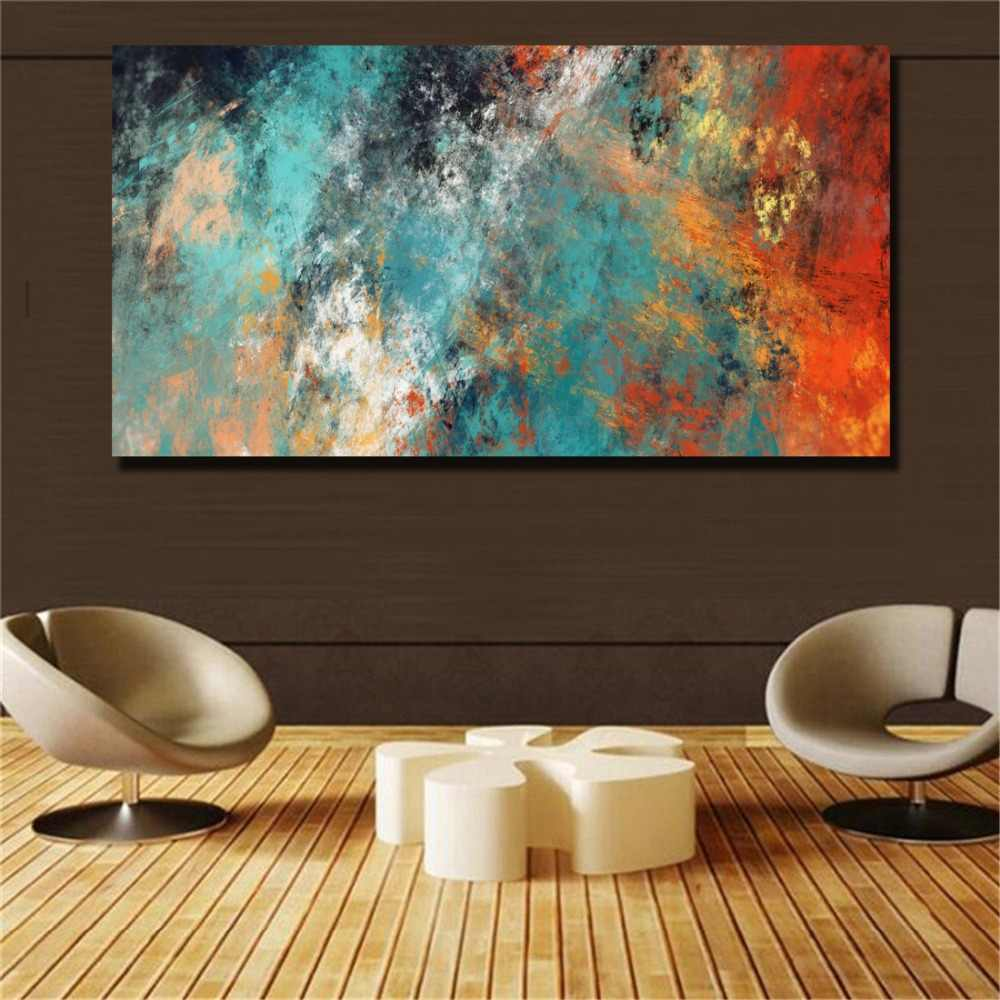 Large Size Wall Pictures For Living Room Home Decor Abstract Clouds Colorful Canvas Painting Art Home Decor No Frame(31x63)