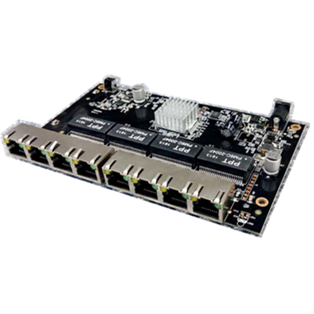 8 Port Gigabit WEB Managed Reverse PoE Switch pcb board цена