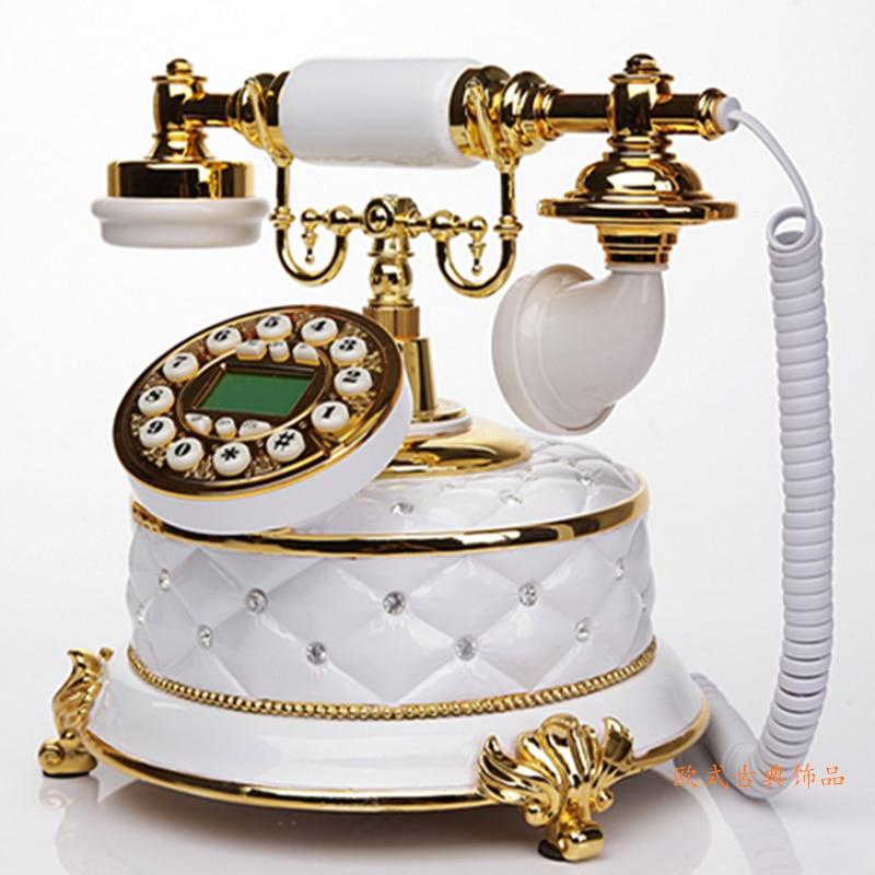 Antique European style of the ancient garden set telephone