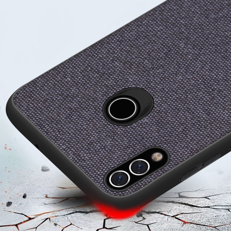 CoolDeal for Huawei Honor 8X case Honor 8X Max back cover soft silicone edge shockproof fabric case for Honor 8X MAX capa in Fitted Cases from Cellphones Telecommunications